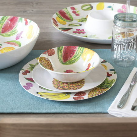 Mainstays Outdoor Melamine Dinnerware Set, 12 Piece