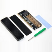 Computer Expansion Card Adapter Led Interface M.2 NVMe SSD NGFF To PCIE 3.0 X16
