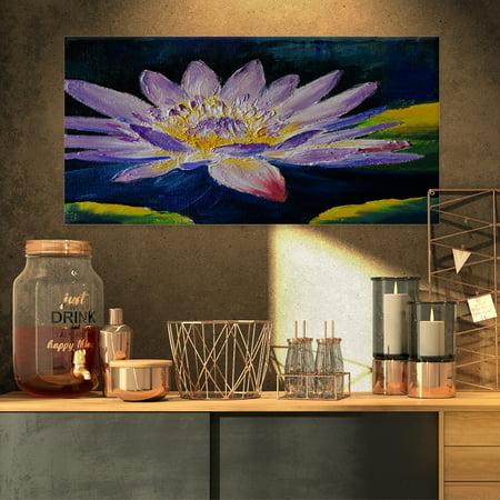 DESIGN ART Designart - Purple Lotus Flower - Floral Canvas Print (Open Design Lotus Flower)