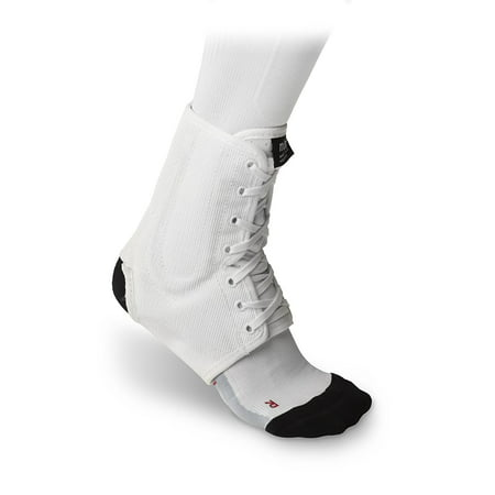 Classic White Lightweight Laced Ankle Brace , Black, medium, Ankle braces are intended to fit tightly for the best support. If your shoe sizes it at the.., By
