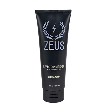 ZEUS Beard Conditioner Wash for Men - Sandalwood Scent - 8oz - Sulfate-Free, Rinse-Out