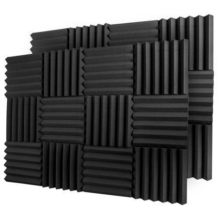 12 Acoustic Foam Tiles Wall Record Studio Sound Proof 12