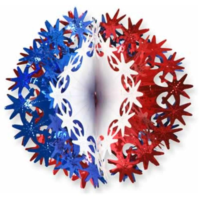 Beistle - 50503-RWB - Star Ball- Pack of 12