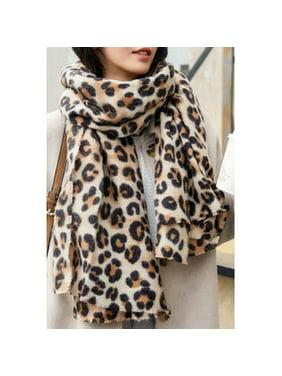 Women Leopard Printed Warm Cashmere Muffler