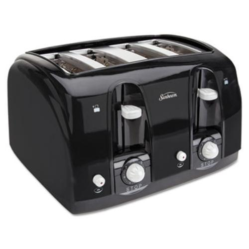Sunbeam 3911-100 Four Slice Toaster - Toast, Bagel - Black (39111_40)