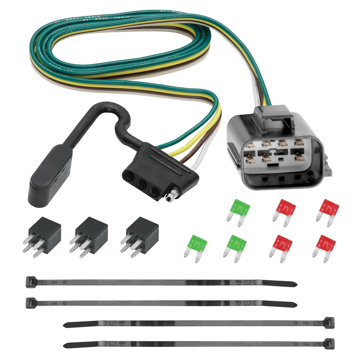 13-C Acadia/Enclave/Traverse Replacement Oem Tow Package 4Way Flat with Circuit Protected Hd Modulite Replacement Auto Part, Easy to Install