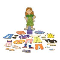 Melissa & Doug Maggie Leigh Magnetic Wooden Dress-Up Doll Pretend Play Set (25+ pcs)