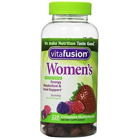 Vitafusion ™ Femmes Saveurs Berry Natural Complete multivitamines gélifiés Complément alimentaire Bouteille 220 ct