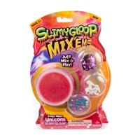 Unicorn SlimyGloop Mix-EMS, Pre-made Slime Kit, Ages 3+, Slime and Accessories, SLIMYGLOOP and Mix ins, Pink SLIMYGLOOP