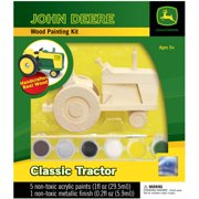 Works of Ahhh… John Deere Wood Painting Kit, Classic Tractor