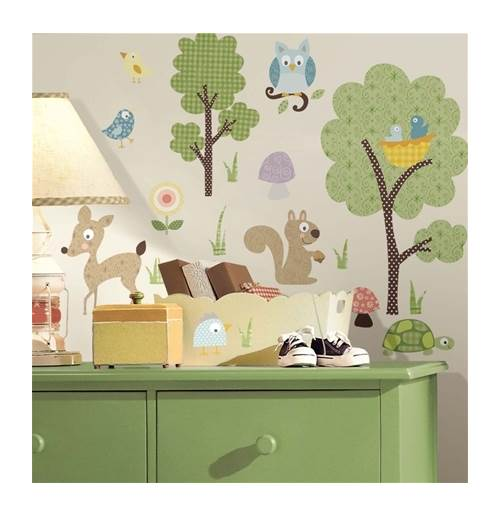 Woodland Animals Peel and Stick Wall Decals