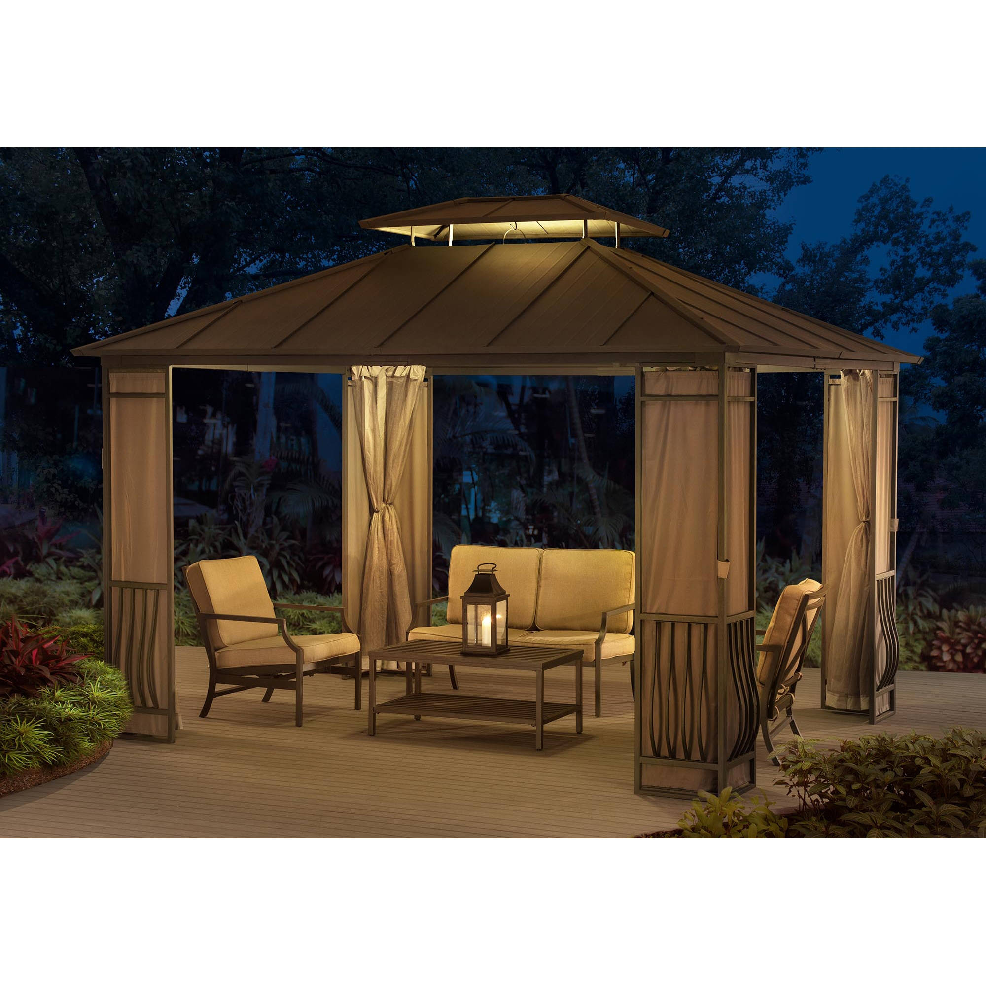 Sunjoy 110102067 12' x 10' Orleans Hard-Top Gazebo by SunNest Services LLC