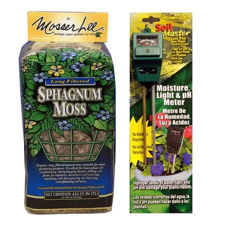 Mosser Lee ML8010 Sphagnum Moss 432 cu. in. + Moisture, Light and pH