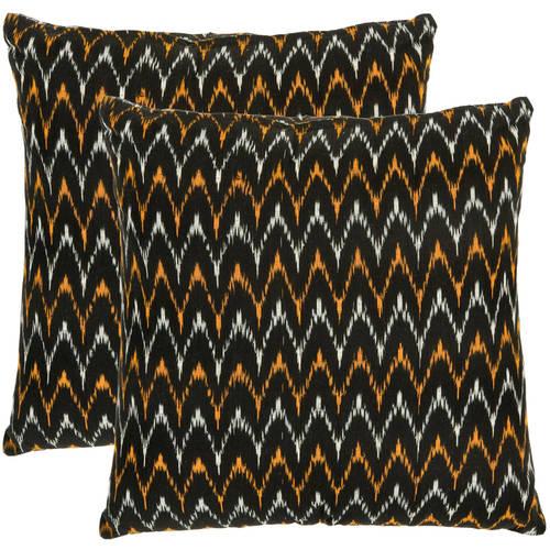 Safavieh Ryder Chevron Striped Pillow, Set of 2