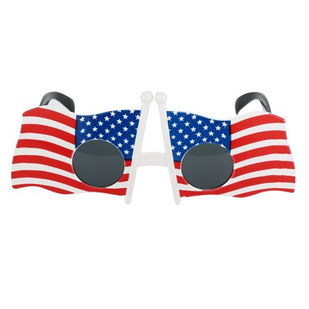 OkrayDirect Cool American Flag Sunglasses USA Patriotic Design for 4th of July Party Props