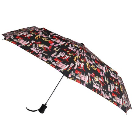 Leighton Women's Auto Open Accessory Print Compact Umbrella - image 3 of 3