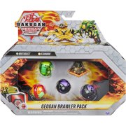 Bakugan Geogan Brawler 5-Pack, Exclusive Mutasect and Stardox Geogan and 3 Bakugan Collectible Action Figures