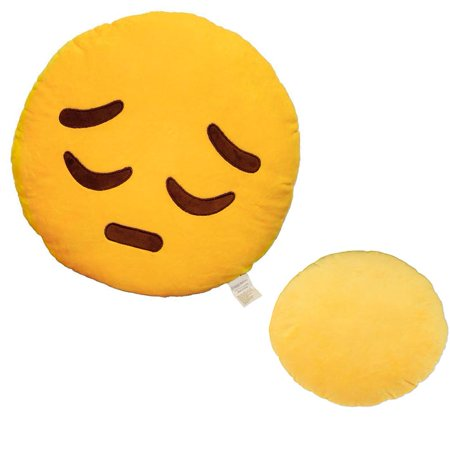 New Emojis New Smiley Emoticon Cushion Pillow Stuffed Plush Toy Doll Poop Emoji Face Bed Pillow Home Living Room 1PCS (Random Emoticon) - Smiley Face Cushion