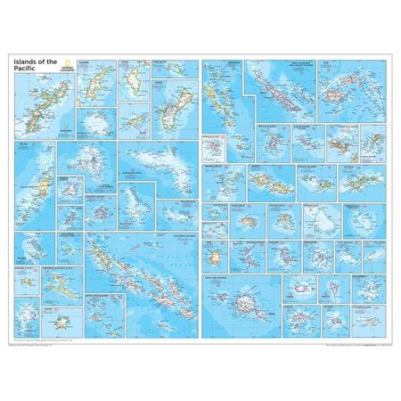 2014 Islands of the Pacific - National Geographic Atlas of the World, 10th Edition Print Wall Art By National Geographic Maps ()