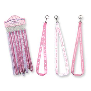 Ddi Breast Cancer Awareness Lanyard Keychain (pack Of 72)