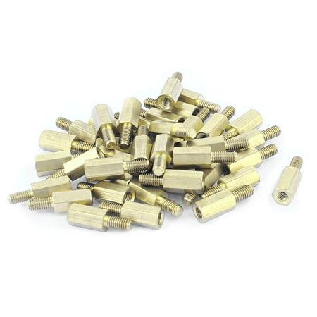 M3x9+6mm Femme/Filetage Male Laiton Hexagonal Impasse Pillier Entretoise Coupler écrou 35 pièces - image 2 de 2