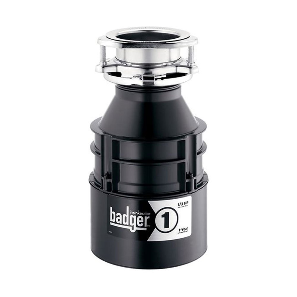 InSinkErator Badger 1 Food Waste Sink Continuous Feed Garbage Disposal, 1/3 HP