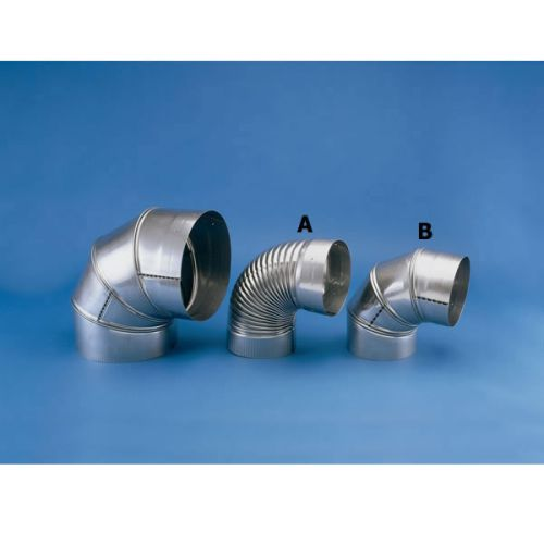 "HeatFab 6"" 90 Degree Corrugated Elbow Non-Adjustable"
