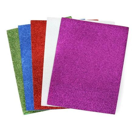Glitter Foam Sheets (Foam Peel & Stick Glitter Sheet, 5)