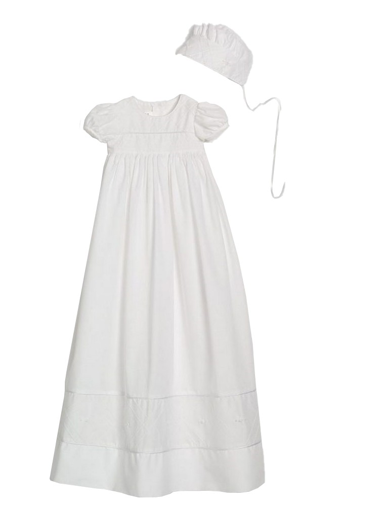 Little Things Mean A Lot 100/% Cotton Handmade Girls Christening Special Occasion Dress with Italian Lace