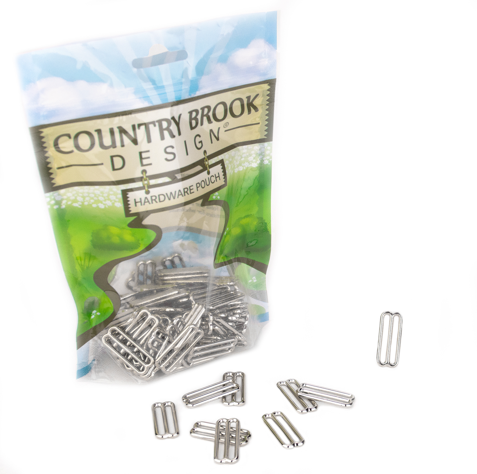 Country Brook Design® 1 Inch Sleek Metal Round Triglide Slides