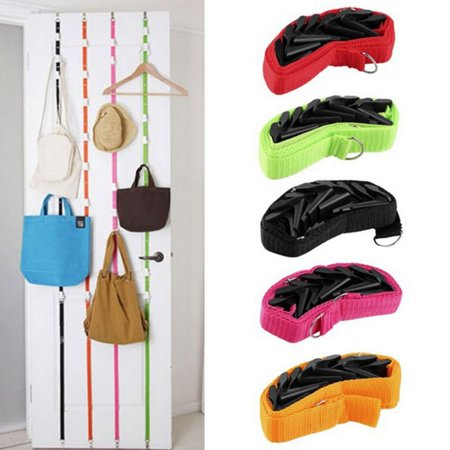 Holiday Clearance New Colorful Clothing Plastic Hanger After The Latest Adjustable Lanyard Door Hook(Random Color) - Spring Door Hangers