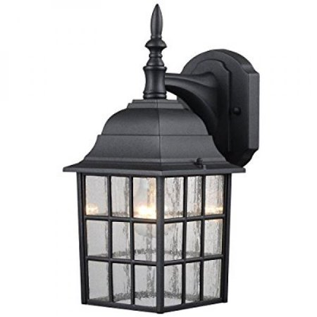 Hardware House 229364 Downward Facing 14 By 6 Inch Aluminum Outdoor Light Fixture Textured Black