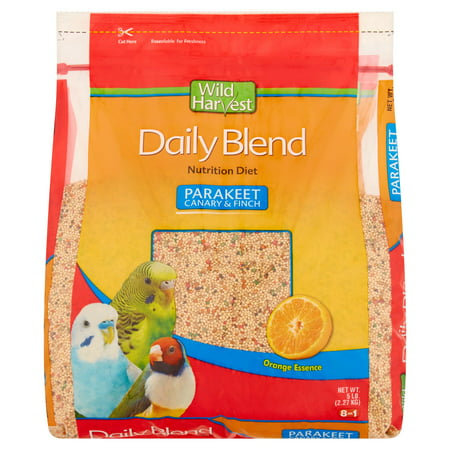 Wild Harvest Parakeet, Canary & Finch Daily Nutrition Blend, 5 lb ()