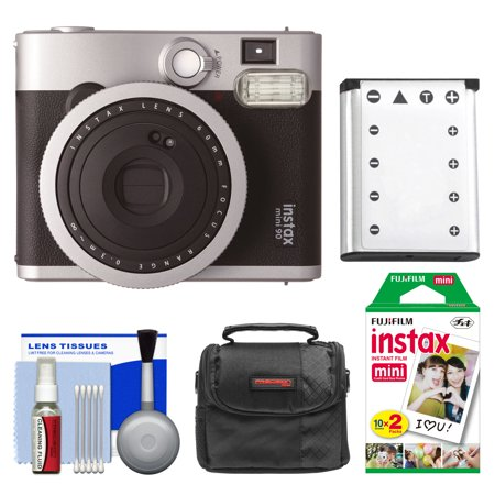 Fujifilm Instax Mini 90 Neo Classic Instant Film Camera With Instant Film   Case   Battery   Cleaning Kit