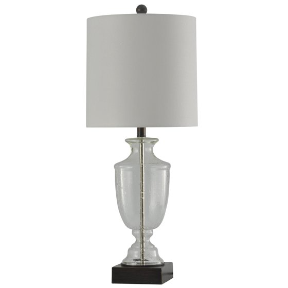 stylecraft 32 seeded glass transitional home living room accent table lamp. Black Bedroom Furniture Sets. Home Design Ideas