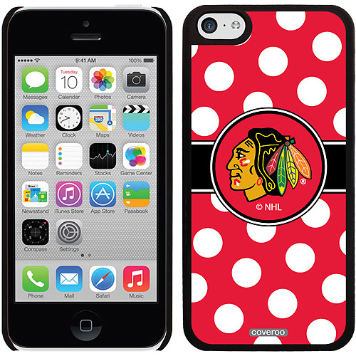 Chicago Blackhawks Polka Dots Design on iPhone 5c Thinshield Snap-On Case by Coveroo