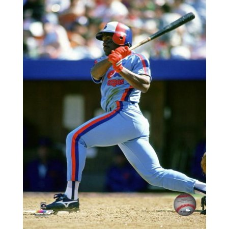 Tim Raines 1982 Action Photo (1982 Photo Press)