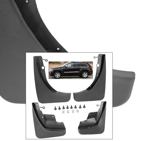 Front Rear Mud Flaps Splash Guards 2011-2013 Jeep Grand Cherokee Mudguards