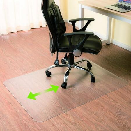 Zimtown Upgraded Heavy Duty 48x 30pvc Chair Mat For Hardwood Floor
