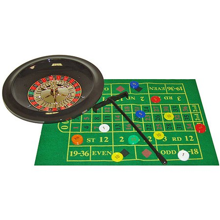 Trademark Poker Deluxe Roulette Set with Chips Paulson Poker Chips