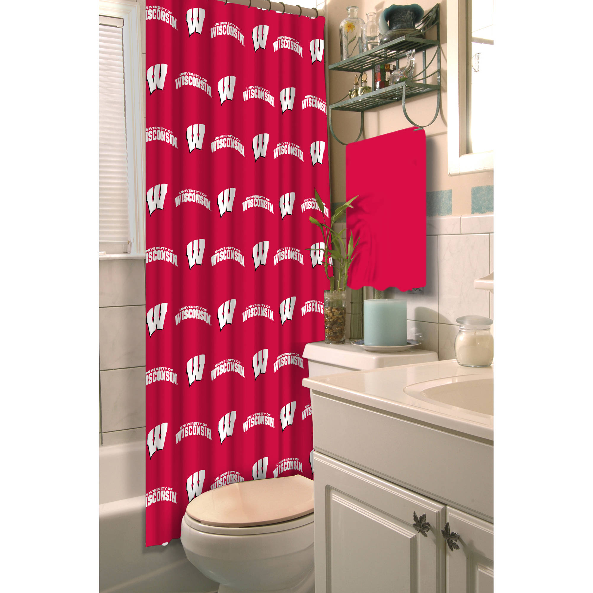 NCAA Shower Curtain, Wisconsin