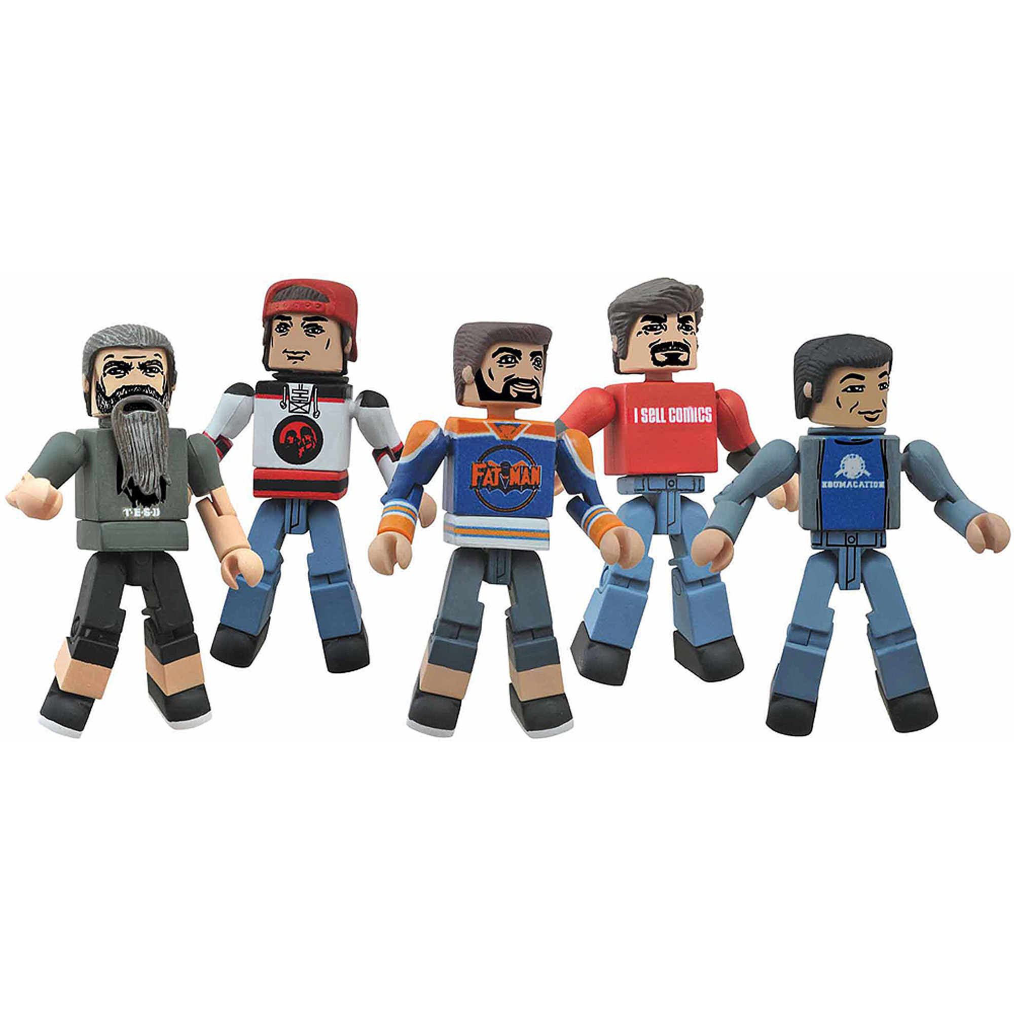 Diamond Select Toys Comic Book Men Minimates Box Set, Kevin Smith, Walt Flanagan, Bryan Johnson, Ming Chen and Mike Zapcic
