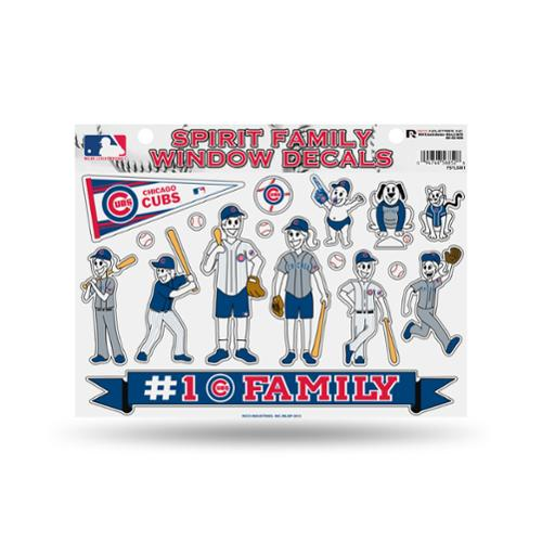 Chicago Cubs Official MLB 11 inch x 11 inch  Large Family Car Decal Sheet by Rico Industries