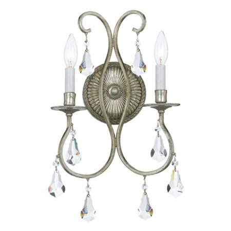 Crystorama Antique Brass Sconce - Crystorama Ashton Sconce - 10.5W in.