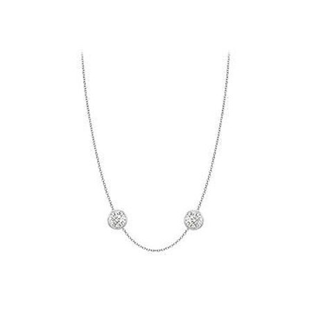 Diamonds Necklace in 14K White Gold Bezel Set 0.50 ct.tw - image 1 of 2