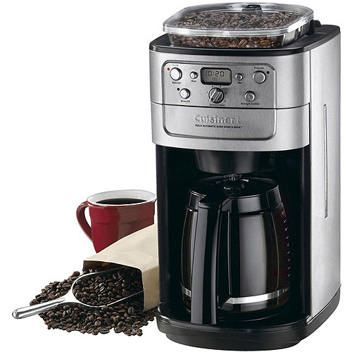 Cuisinart Grind & Brew 12-Cup Automatic Coffeemaker, DGB700BCFR, Chrome, Refurbished