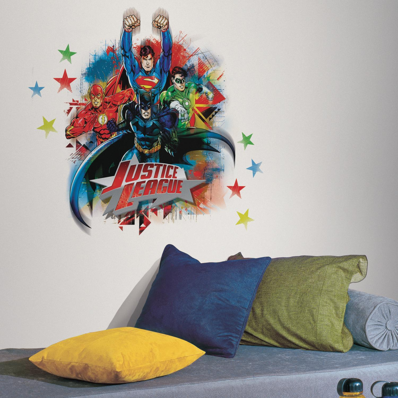 Home Garden Justice League Wall Stickers Mural 14 Decals Superman Batman Flash Green Lantern Home Decor