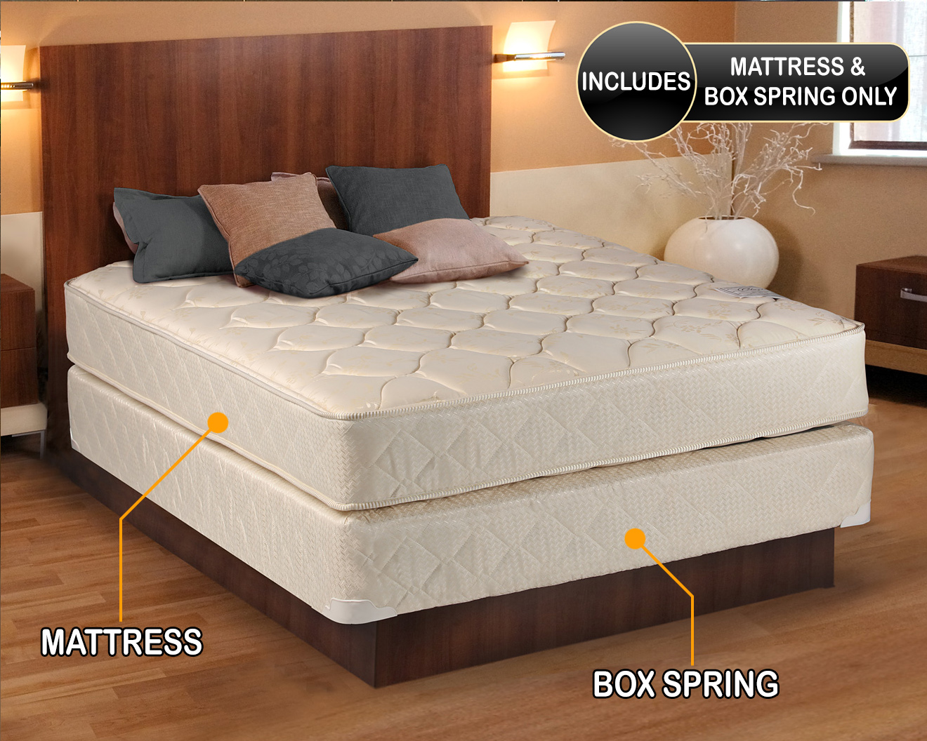 Comfort Classic Gentle Firm Full Size (54 x75 x9 ) Mattress and Box Spring Set - Full y Assembled Orthopedic Good for your back Superior Quality - Long ... & Full-size Mattress Set Aboutintivar.Com