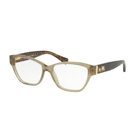 58b38b81b24 Coach 0HC6088 Optical Full Rim Cat Eye Womens Eyeglasses - Size 52 (Olive    Tortoise   Transparent) - Walmart.com
