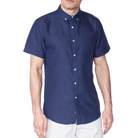 387d9a323359 Visive Oxford Shirt For Men Camisas De Hombre Summer Tropical Shirts - Navy  - 3X - Large - Walmart.com